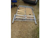 Metal double bed frame with all the peices