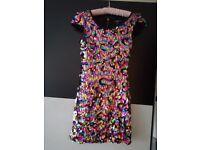 Multi colour sequin dress size 8