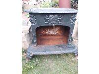 Cast iron log burner stove for decorative purposes non working