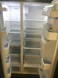 Daewoo Black american Type Fridge Freezer