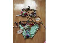 Ted Baker floral swirl bikini size 1