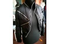 Ladies size small black bomber jacket
