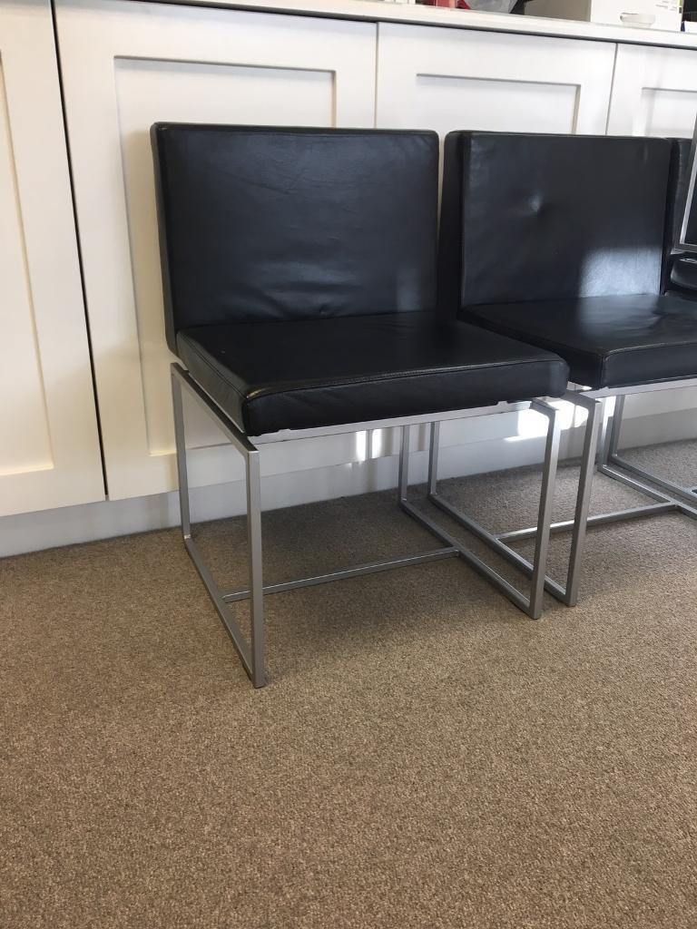 Beautiful Italian designer leather chairs x6