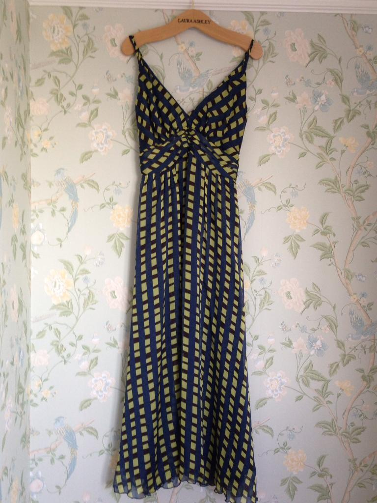 Laura Ashley silk maxi dress size 10