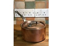 Mauviel copper saucepan 16 cm diameter