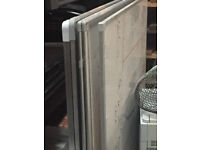 5 LARGE WHITEBOARDS APPROX 90 X 100CM £20 THE LOT
