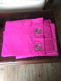 Next pink eyelet curtains