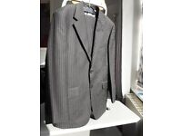 """Charlton Gray wool pin stripe suit-38"""" chest, 32"""" S trousers"""