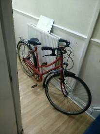 Vintage Peugeot bicycle in red
