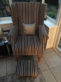 2 modern striped armchairs