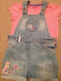 Shorty dungaree set age 4-5