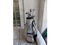Mixed set of golf clubs
