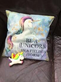 Quality UNICORN cushion and unicorn Squishy.