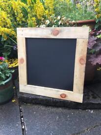 Rustic chalkboard Menu small square chalkboard menu