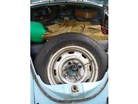 Classic 1972 Marina Blue Volkswagen Beetle