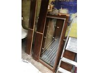 FREE for collection - Large wall cabinet with glass doors