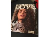 LOVE Magazine signed by Kendall Jenner in DCM London