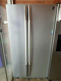 Daewoo Double Door A++Class Silver American Double Door FridgeFreezer With Digital Power Cool System