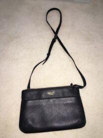 Osprey London black leather handbag