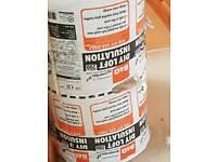 DIY loft insulstion 4 rolls