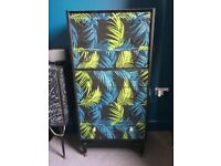 Chest of Drawers - Palm leaf up-cycled vintage 1960s