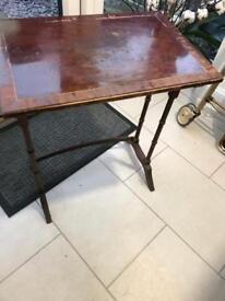 Ornate side table. Doer upper. Shabby chic