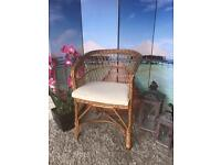 Wicker Rattan Garden Conservatory Chair with Cushion