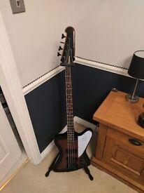 Epiphone Firebird iv Bass guitar and Behringer 15W Bass amp