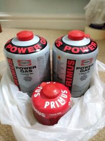 Sealed PRIMUS Gas canisters for camping: 2*450g + 1*100g