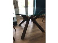 Round 4-Person Smoked Glass Dining Table - £80 ono - COLLECTION ONLY
