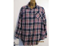 BLUE CHECK SHIRT/ BLOUSE NEW LOOK SIZE 12 maybe cowgirl fancy dress