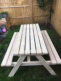 Children's and adults picnic /pub benches