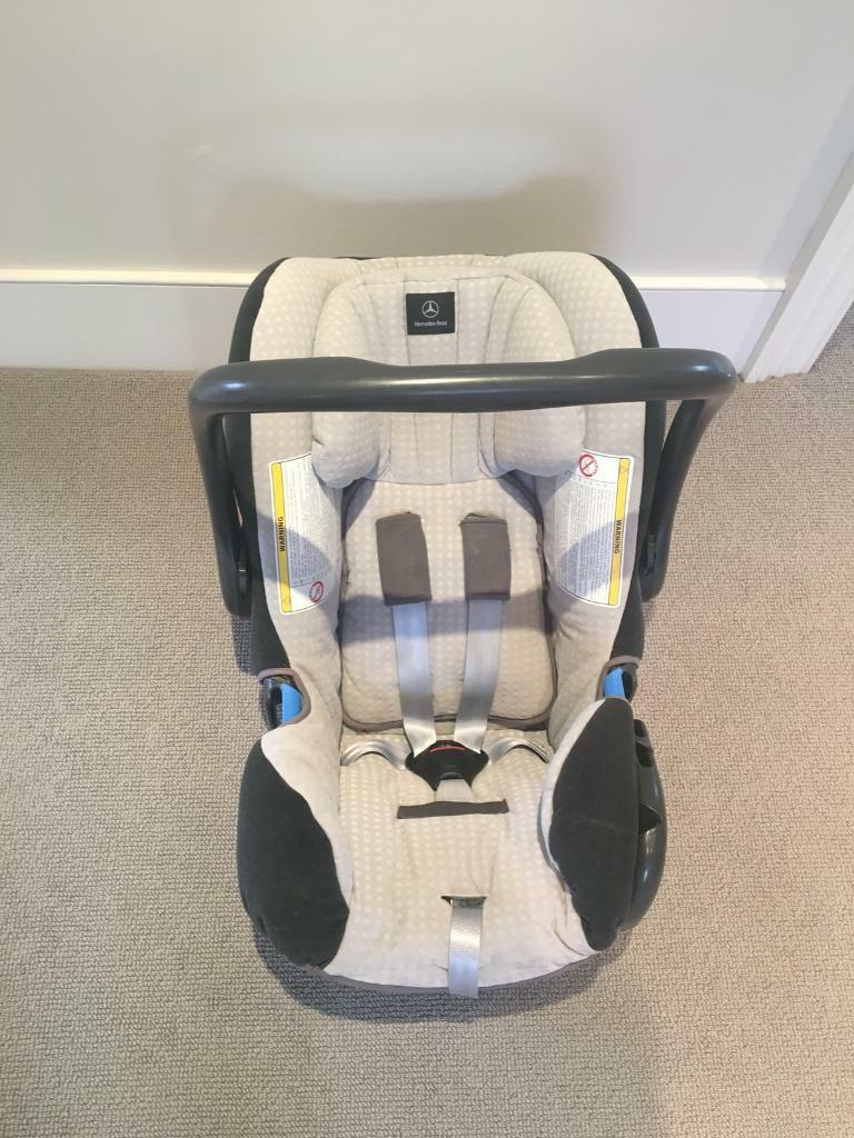 Mercedes Benz baby car seatin Wandsworth, LondonGumtree - Baby Safe rear facing car seat by Mercedes Benz. Can be used in any make of car but if used in the front passenger seat of a Mercedes car it communicates with the airbag to automatically disable the airbag. For age group zero to 15 months. Integrated...