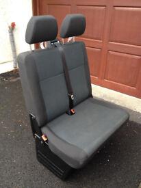VW T6 Transporter Double front Passenger Seat