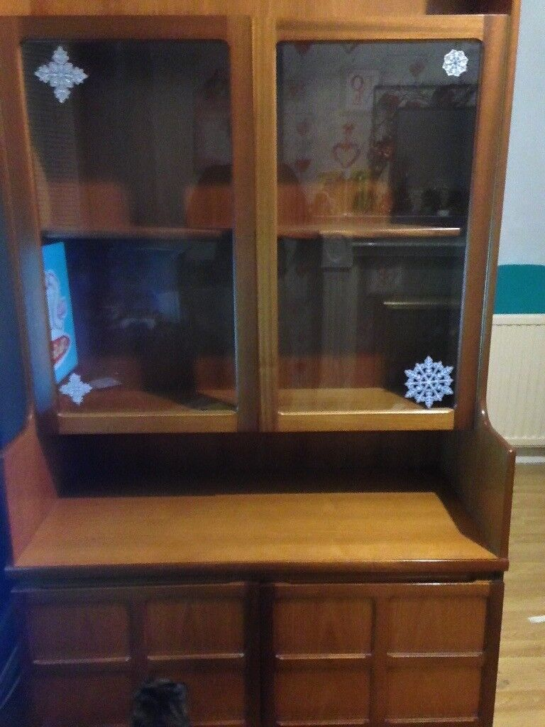 2 Large Beautiful Wooden Furniture Cabinets
