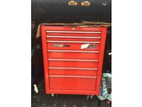 "Snap on 26"" tool box classic red lock and roll x2 keys roll cab"