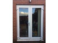 White PVC patio doors