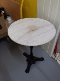 Marble Round Table 23.5 inches Diameter, 29inches height