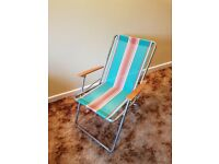 Light weight stripe garden chair