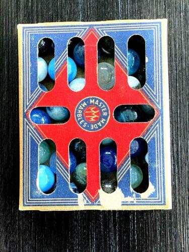 ORIGINAL VINTAGE BOX OF MASTER MARBLES