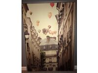 Lovely framed picture - Flying over Paris - from ikea