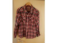 Mens superdry checked shirt. Immaculate condition.