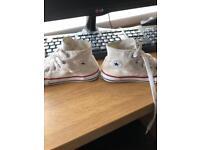 Children's converse white size 9