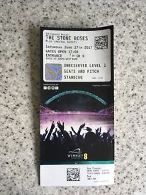 The Stone Roses concert ticket - This Saturday 17th - Wembley (standing)