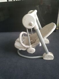 Mamas and papas starlite baby swing seat rocking