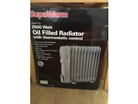 Supawarm Oil Filled Radiator with thermostatic control 2500 Watt RRP £85.99