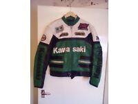 Kawasaki motorcycle leather jacket