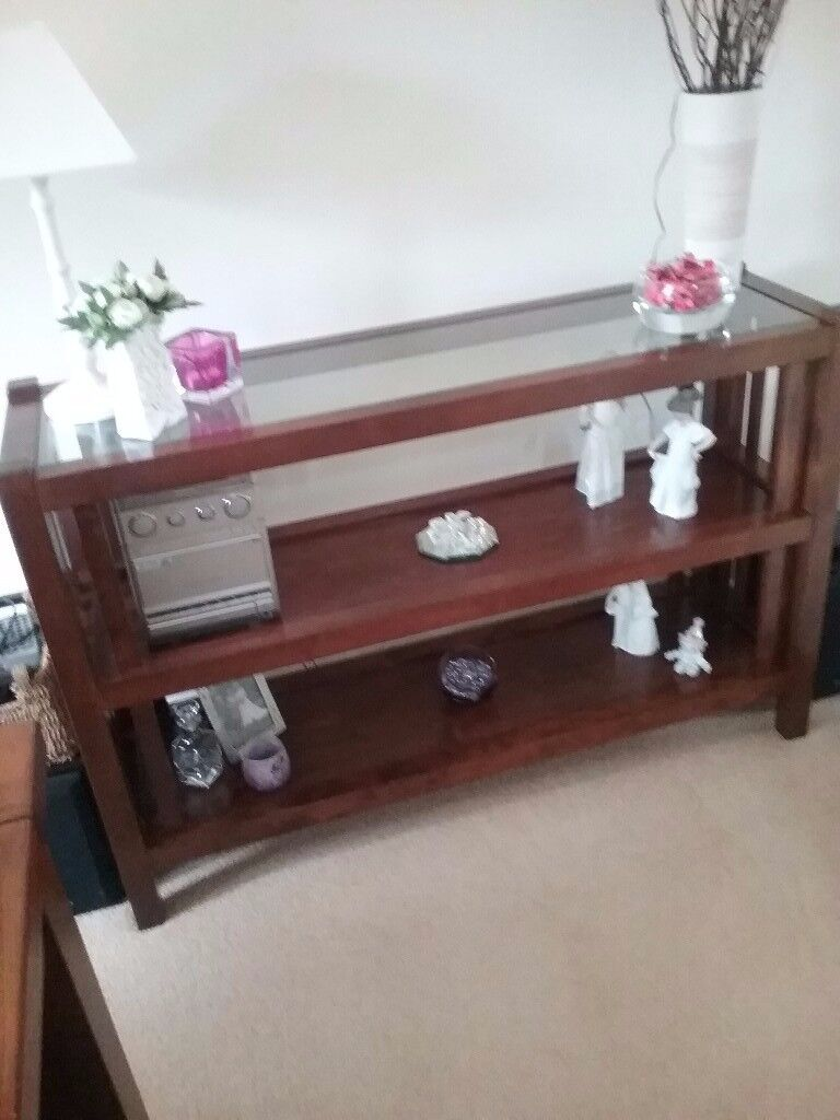 Laura Ashley glass top console table