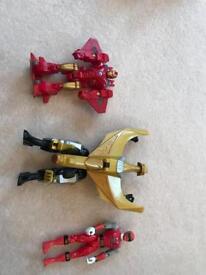 Power rangers x 2 ranger / iron man transformer and bike