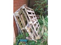 Free pallets for firewood.